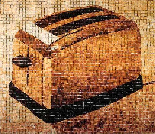 cuadro hecho con tostadas