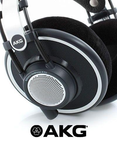 auriculares para estudio de grabacion marca AKG