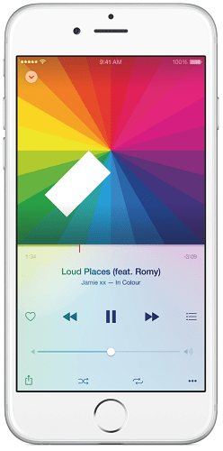 apple music interface app