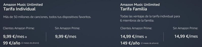 precios amazon music unlimited