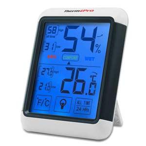 Aparato para medir la temperatura y la humedad de la casa