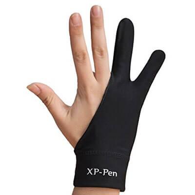 con un guante evitas el sudor y no se resbala al dibujar