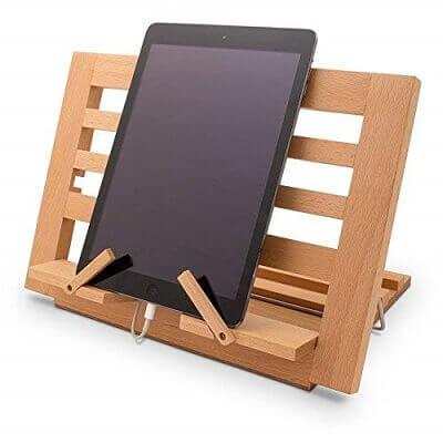 Atril de madera para elevar la mesa de luz