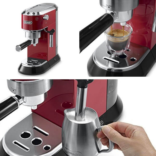 Cafetera moderna espresso delonghi