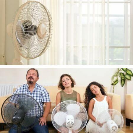 Tipos de ventiladores de pie