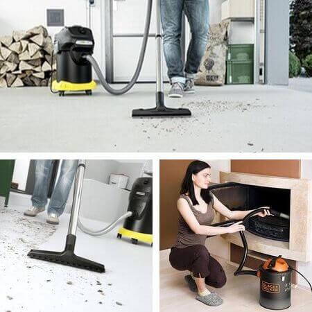 Como usar una aspiradora de cenizas