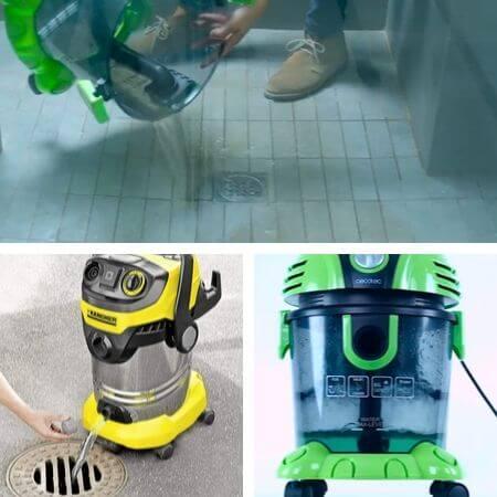 Limpieza y vaciado de las aspiradoras industriales