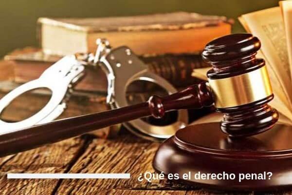 Que es el derecho penal